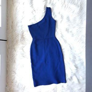 BCBGMAXAZRIA Ponte One Shoulder Power Dress